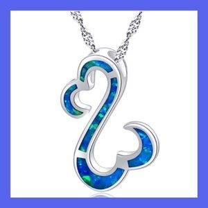 Jewelry - ❗️NEW❗️Sterling Silver and Blue Opal Pendant
